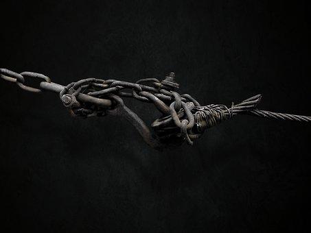 Chain, Industrial, Metal, Steel, Rust, Tangle