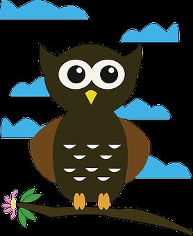 Owl, Cartoon, Bird, Cute, Animal, Character, Drawing