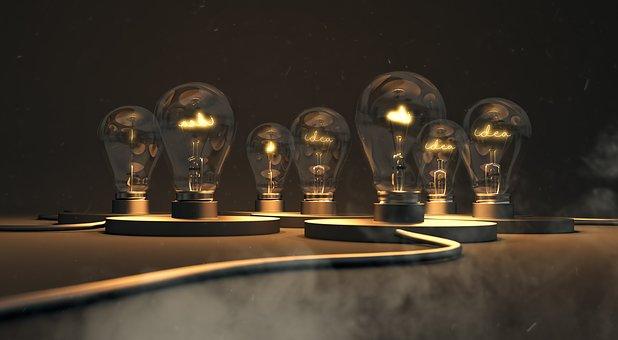 Idea, Lightbulb, Energy, Inspiration, Think, Creativity