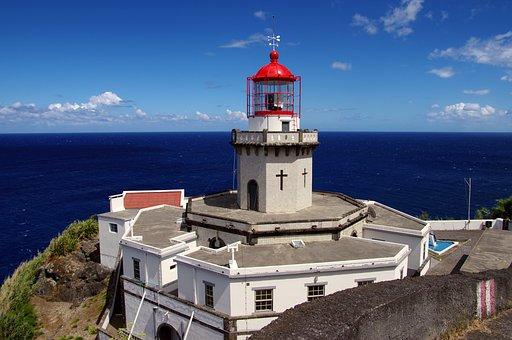 Lighthouse, Azores, Ocean, Island, São Miguel
