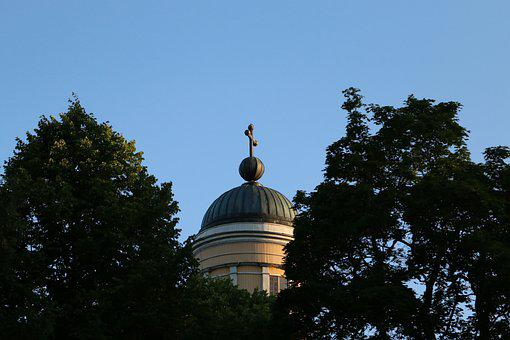 Church, The Dome, Summer, Sky, Religion