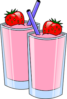 Drinks, Strawberry, Pink, Frozen, Smoothie, Milkshakes