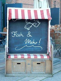 Beach Chair, Caption, Board, Presentation, Blackboard