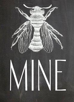 Chalkboard, Bee, Blackboard, Sign, Cute, Chalk