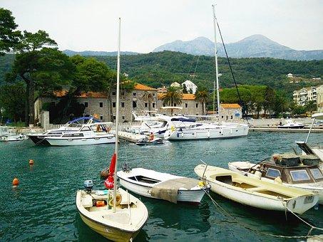 Meljine, Herceg Novi, Boats, Marina, Summer, Montenegro