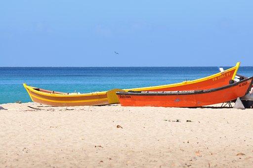 Wooden Boats, Fishing Boats, Boats, Sand, Beach