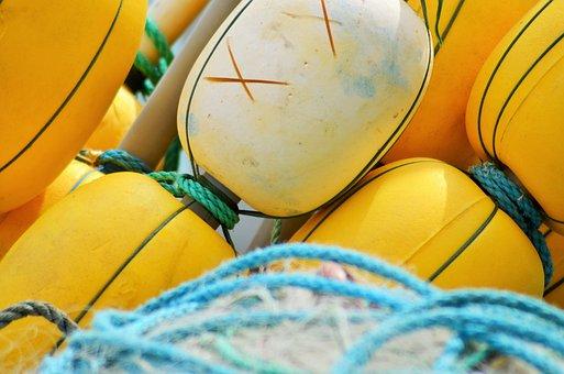 Buoy, Float, Net, Fishing Nets, France, Fishing