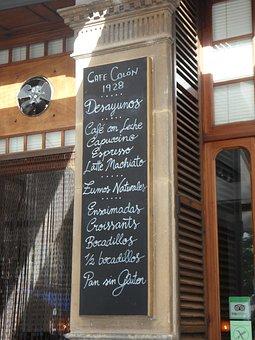 Board, Cafe, Pub, Map, Written, Chalk, Blackboard, Menu