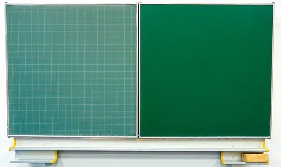 Chalkboard, Blackboard, Chalk, Green, Empty, Clean