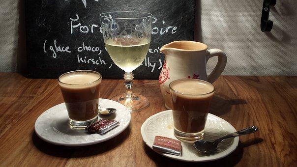 Arrangement, Coffee, Wine Glass, Krug, Espresso, Slate