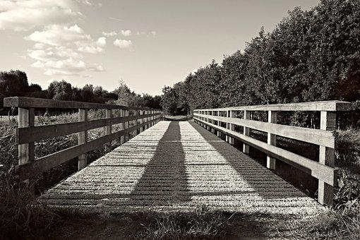 Bridge, Structure, Crossing, Wooden Bridge, Landscape