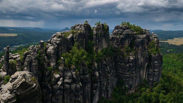 Elbe Sandstone Mountains, Rock, Saxon Switzerland