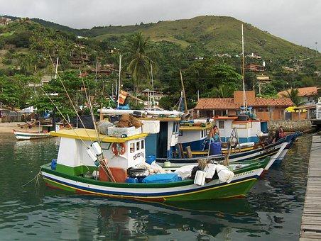 Vessel, Ilhabela, Fishing Boat