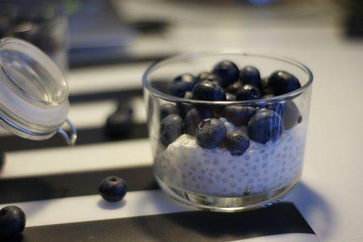 Blackberry, Blueberry, Healthy, Food, Tapioca