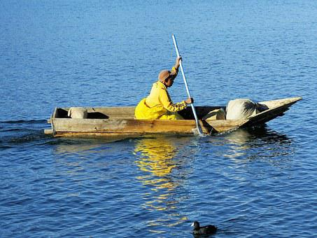 Guatemala, Atitlan, Boat, Fisherman, Lake, Navigation