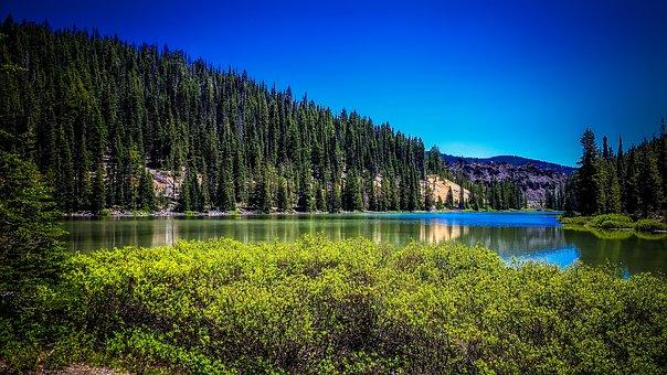 Todd Lake, Oregon, Landscape, Scenic, Mountains, Forest