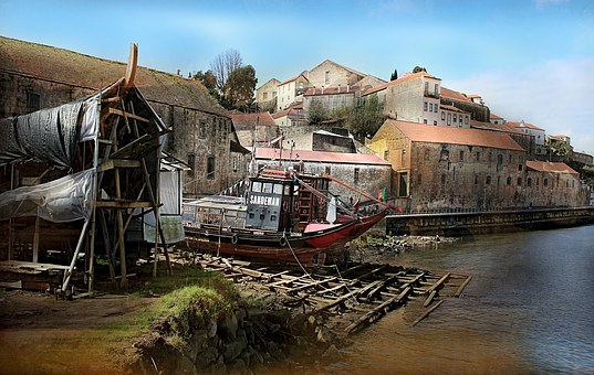 Landscape, Urbana, Shipyard, Porto, River Douro