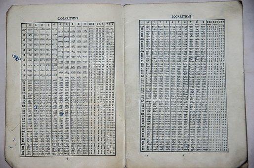 School, Book, Maths, Logs, Logarithms, Tables, 1960s