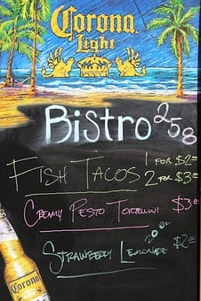 Menu, Bistro, Chalkboard, Blackboard, Restaurant