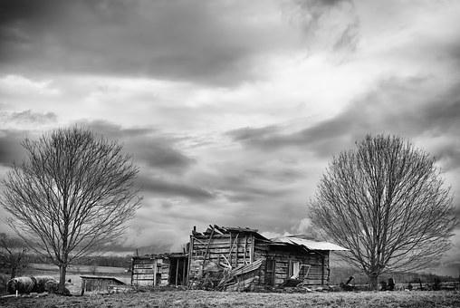 Monochrome, Black And White, Landscape, Rural, Country