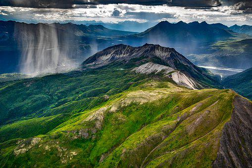 Wrangell, Mountains, Alaska, Landscape, Raining, Storm