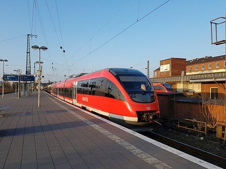 Train, Traffic, Deutsche Bahn, Railway Station