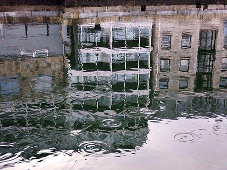 Relection, Water, Plymouth, England, Calm, Marina