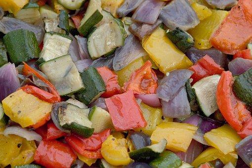 Roasted Vegetables, Roasted, Vegetables, Courgettes