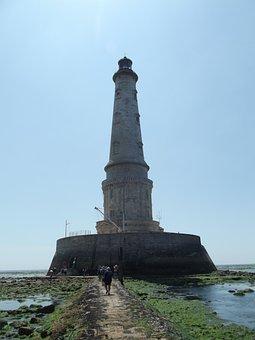 Cordovan, Lighthouse, Ocean, France, Atlantic, Side