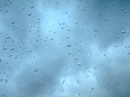 Raindrop, Sky, Blue, Rain, Nature, Clouds, Wet, Water