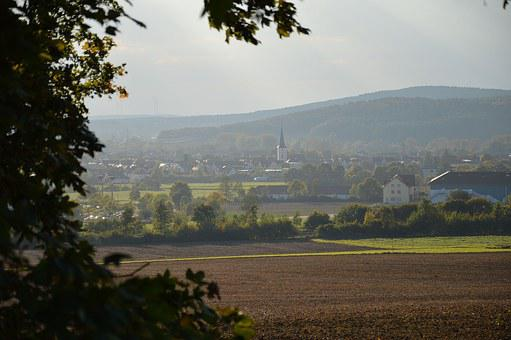 Landscape, Village, Autumn, Southern Germany
