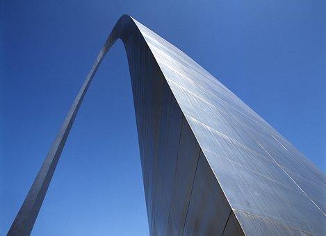 St Louis Arch, Monument, St Louis, Missouri, Usa
