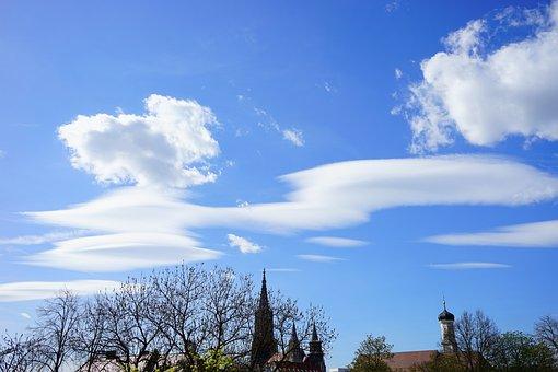 Clouds, Sleet, Cloud Formation, Sky, Summer Day, Blue