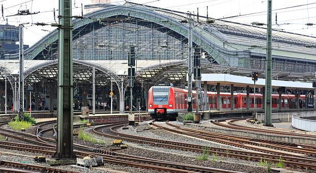Cologne, Train, Central Station, Station Roof