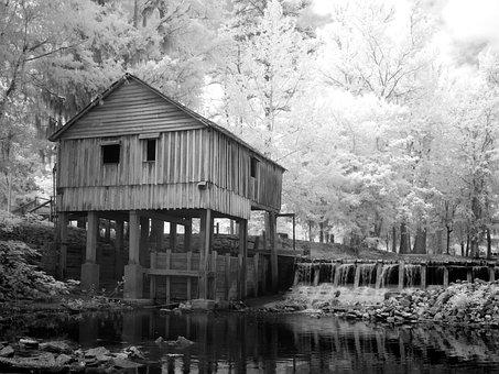 Mill, Rikards Mill, Alabama, Usa, America