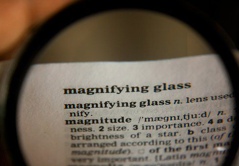 Magnifying Glass, Word, Definition, Dictionary, Text