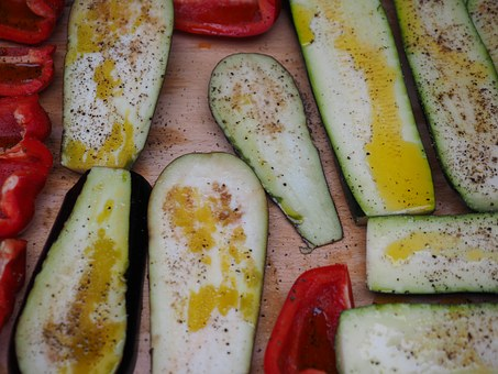 Vegetables, Grilled Vegetables, Zucchini, Paprika