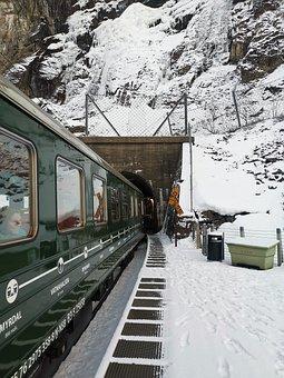 Fjord, Train, Noe, Norway, Dmu, Train To Flensburg