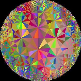 Mandala, Triangles, Geometric, Polygons