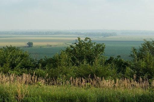 Fields, Haze, Hazy, Landscape, South Dakota, Stock