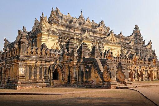 Monastery, Maha Augmye Bonzan, Ava, Burma, Myanmar