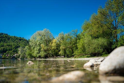 River, Pebble, Water, Stones