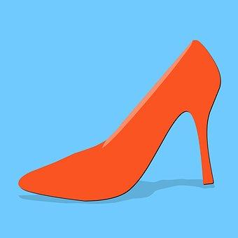 High Heels, Red, Stiletto, Dress Shoe, Shoe