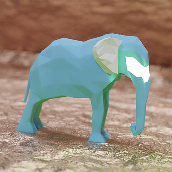 Elephant, Concept, 3d, Design, Render, Model, Fantasy