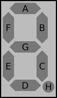 Electronic, Display, Digital, Seven Segment, Eight, 8