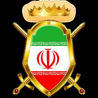 Shield, Sword, Flag, Iran, Tajikistan