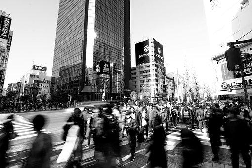 Tokyo, Akihabara, Intersection, The Hustle And Bustle