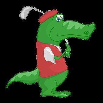 Crocodile, Golf, Sport, Diploma, Children, School