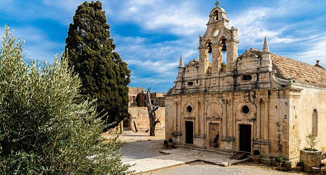 Crete, Monastery, Arkadi, Architecture