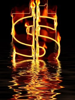 Money, Dollar, Currency, Water, Wave, Abstract